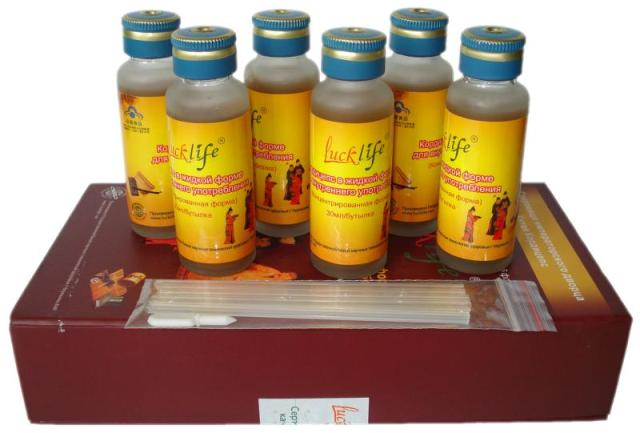 Cordyceps sinensis liquid in bottles, box with 6 bottles by 30ml each.